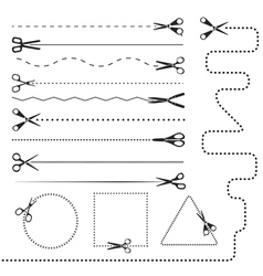 Scissors silhouettes vector image vector image