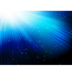 Stars on blue striped background EPS 10 vector image vector image