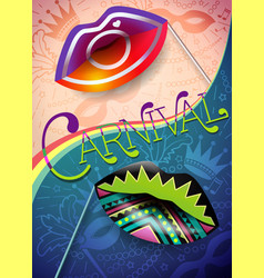banner of carnival night 2 vector image