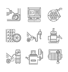 icons for car service vector image