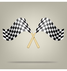 Checkered Racing Flags vector image