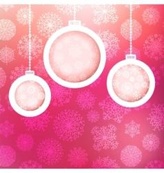 Christmas ball made of snowflakes EPS8 vector image
