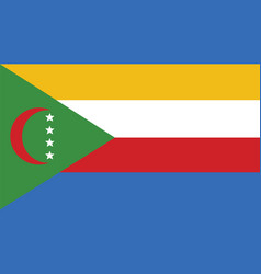 comoros flag for independence day and infographic vector image vector image