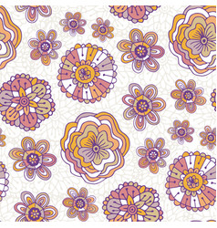 doodle floral pattern boho background for vector image vector image