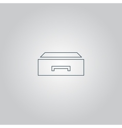 drawer icon vector image vector image