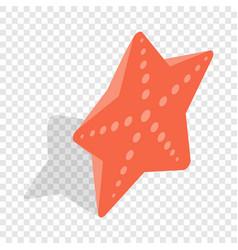 red starfish isometric icon vector image