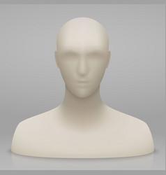 3d mannequin head vector image