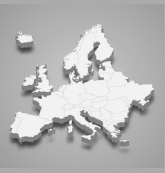 3d map europe vector