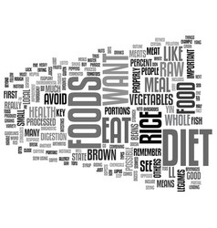 A good raw diet for your health text word cloud vector