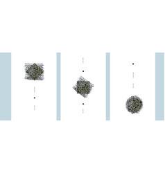 abstract art design set hand drawn minimalistic vector image
