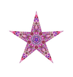 Abstract geometrical triangle mosaic pentagram vector