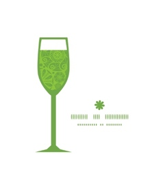 Abstract green and white circles wine glass vector