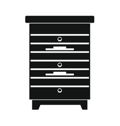 Apiary honey hive in black flat style vector