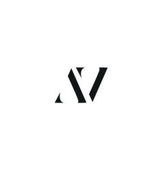 Av initial logo design logo letter logo vector