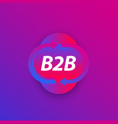 B2b commerce icon business concept vector