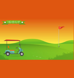 background of golf field vector image