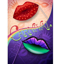 banner of carnival night vector image