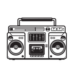 boombox on white background design element vector image