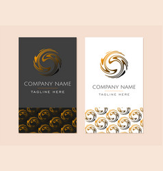 brand identity abstract orange round circle logo vector image