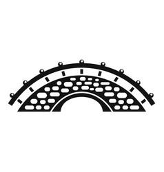 bridge building icon simple style vector image
