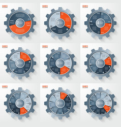 Business and industry gear style infographis vector