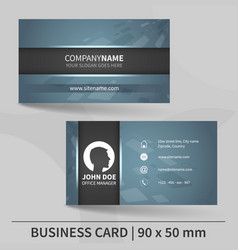 Business card template suitable for printing vector