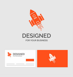 Business logo template for space craft shuttle vector