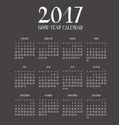 Calendar for new year 2017 vector