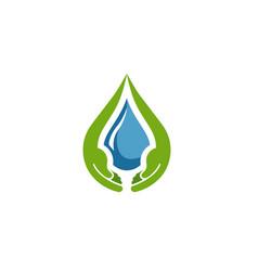 care drop logo vector image