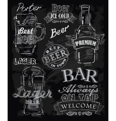 chalk beer vector image