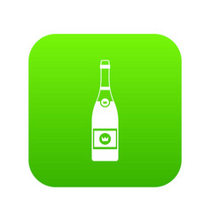 champagne icon digital green vector image