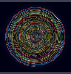 circle future design digital concept banner vector image