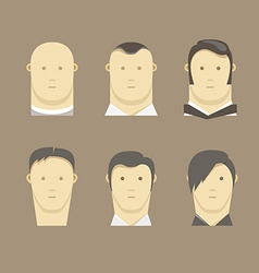 Different men faces style vector