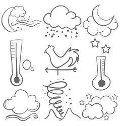 Doodle of weather style design collection vector