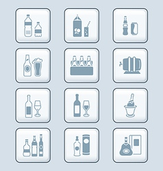Drinks set tech vector