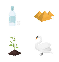 ecology flora fauna and other web icon in vector image