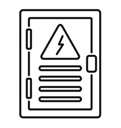 Electric panel box icon outline style vector