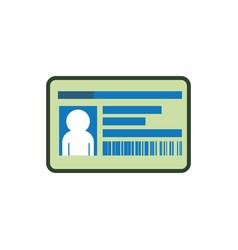 Employee id card vector