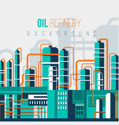 flat oil refinery vector image