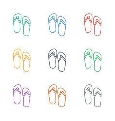 Flip flops icon white background vector