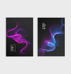 Flyer or cover design dark background with vector