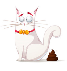 Funny cute cat vector