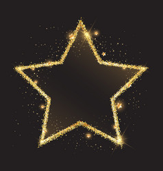 glittery gold star background vector image