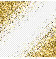 Golden glitter abstract corner background tinsel vector