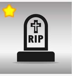 grave black icon button logo symbol concept vector image