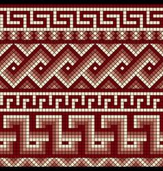 Greek mosaics seamless vector