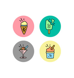 ice cream symbol icon logo icon template ready vector image