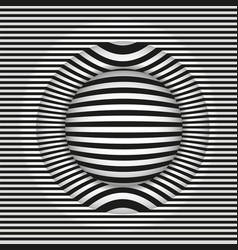 Images in the style op art black and white vector