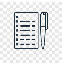 journalist concept linear icon isolated on vector image
