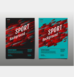 Layout template design sport background dynamic vector